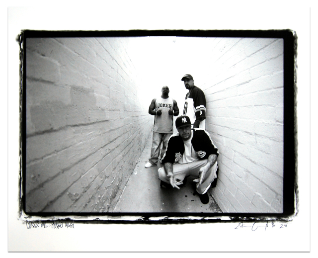 Estevan Oriol, Cypress Hill – Muggs Alley, 2003, archival silver gelatin print, 30 x 40 in (76.2 x 101.6 cm). Coutesy of the gallery