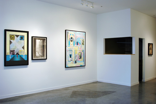 Gwenaël Rattke installation view.  Courtesy of Romer Young Gallery.