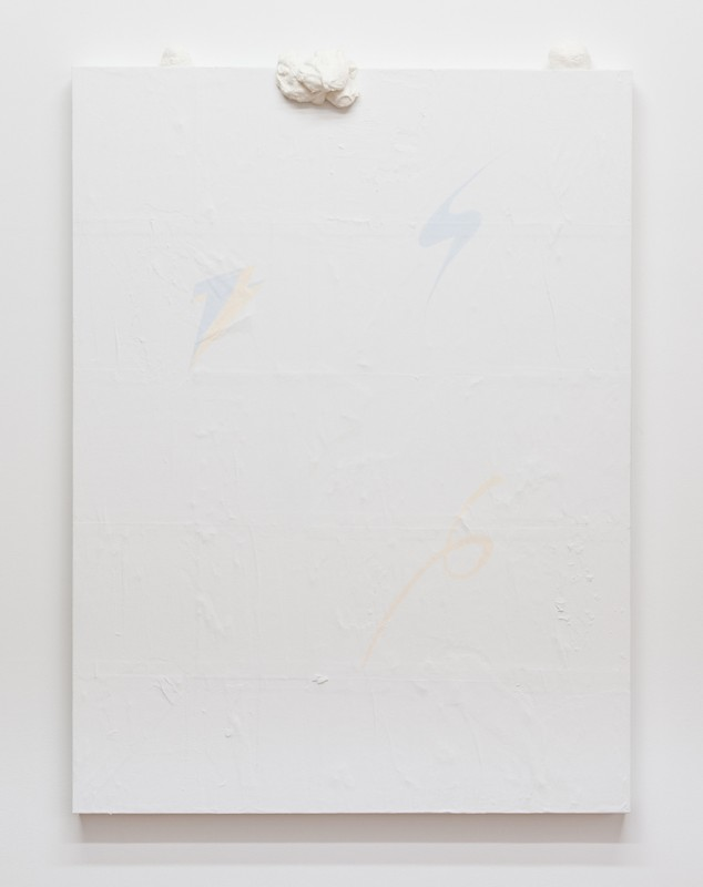 """""""This Game is No Game"""" paint and plaster on wood panel 48""""x36"""" 2013"""