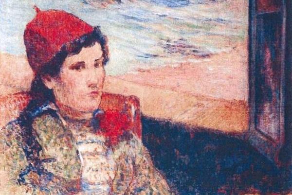 """""""Girl in Front of Open Window,"""" Paul Gauguin (1898)"""