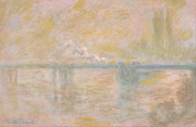 """Charing Cross Bridge, London,"" Claude Monet (1901)"