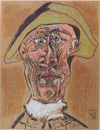 """Harlequin Head,"" Pablo Picasso (1971)"