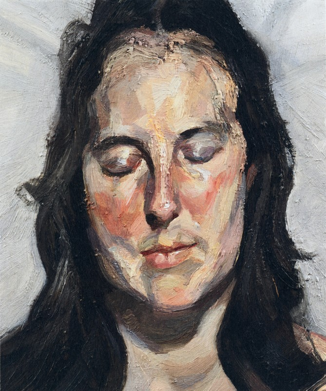 """Woman With Eyes Closed,"" Lucian Freud (2002)"