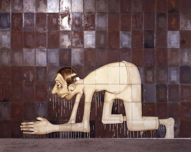 Barry McGee, Untitled (Crawling Man), 1999/2012. Image courtesy of Tom Powel Imaging.