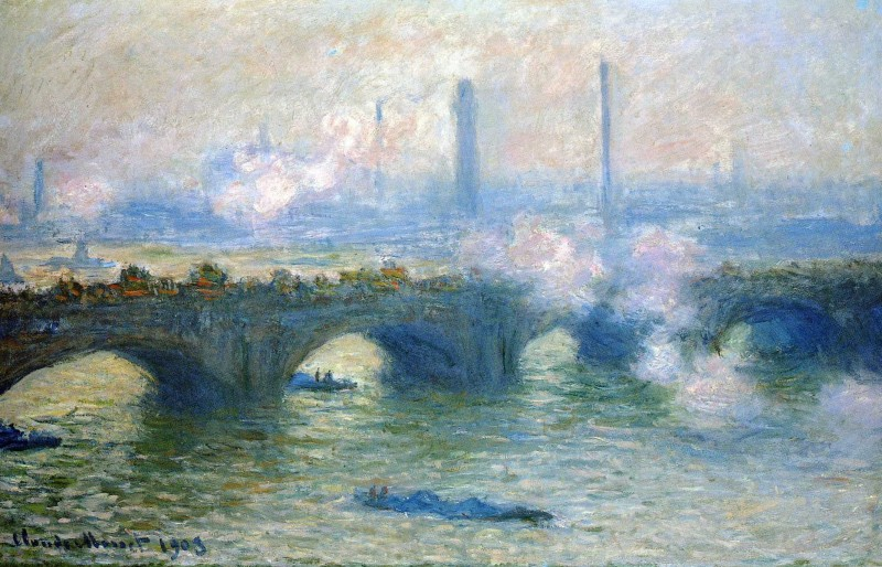 """Waterloo Bridge, London"" Claude Monet (1901)"