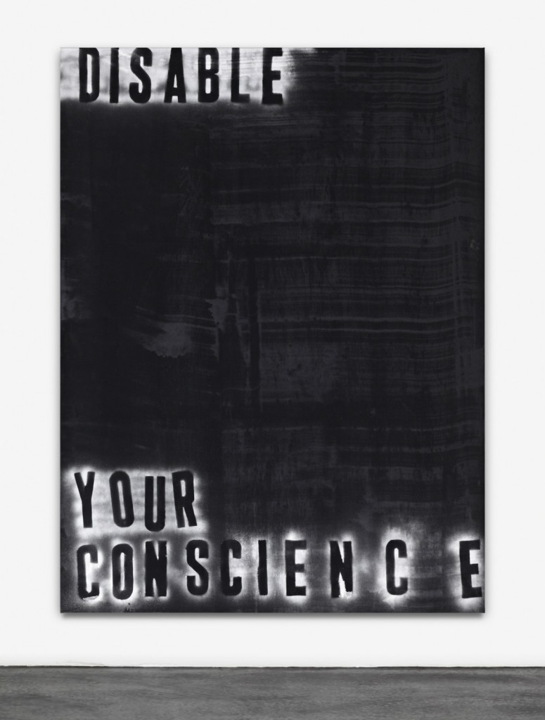Disable Your Conscience, 2013. Painting - Acrylic on canvas. Courtesy of the gallery.