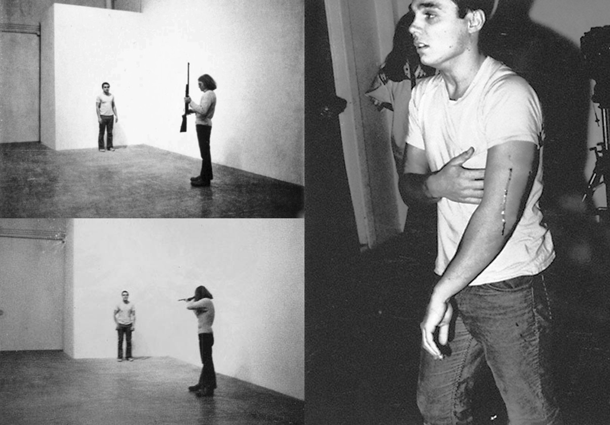 Chris Burden, Shoot, November 19, 1971. F Space, Santa Ana, California.