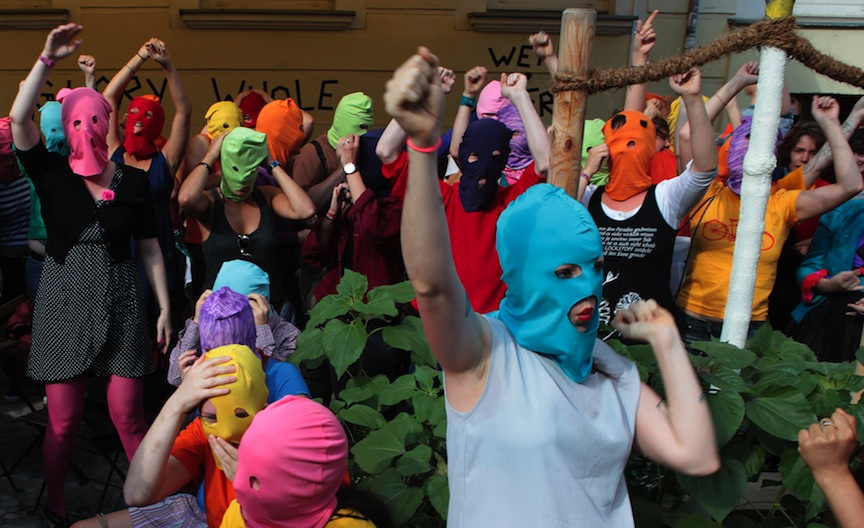 """Pussy Riot's performance """"Punk Prayer"""" can be judged as both a work of art and a crime"""