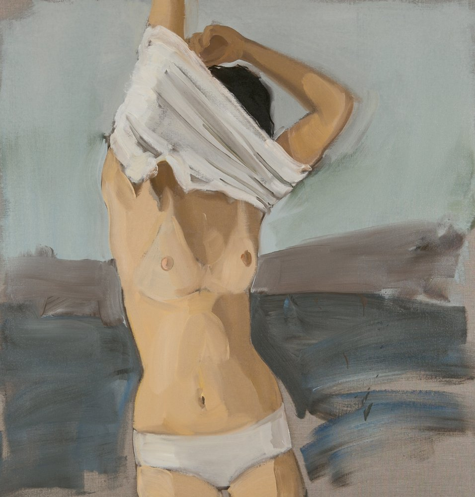 Gideon Rubin. Untitled, 2013. Oil on linen. 42 1/8 x 40 1/8 in.  Courtesy of the artist and Hosfelt Gallery.