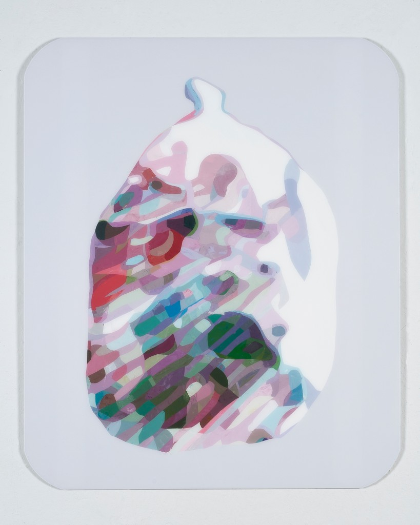 "Maria Park - ""Composition 3"", 2012 acrylic on Plexiglas 36"" x 30"" Image Courtesy of Toomey Tourell Gallery"