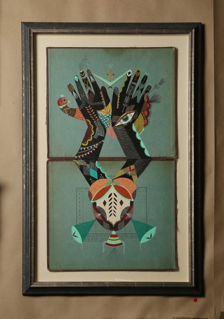 "Bunnie Reiss, ""Mystical Hand Magic"".  Courtesy of the artist and Redux Studios."