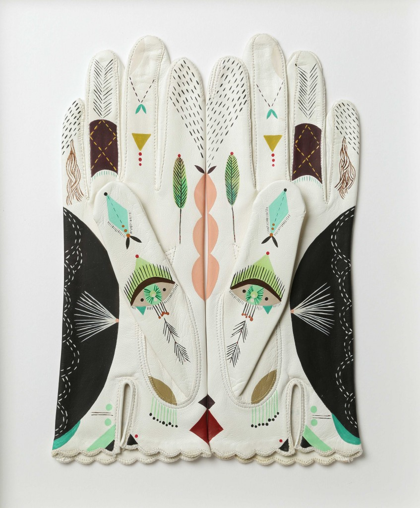 "Bunnie Reiss, ""Double Kitten Glove"".  Courtesy of the artist and Redux Studios."