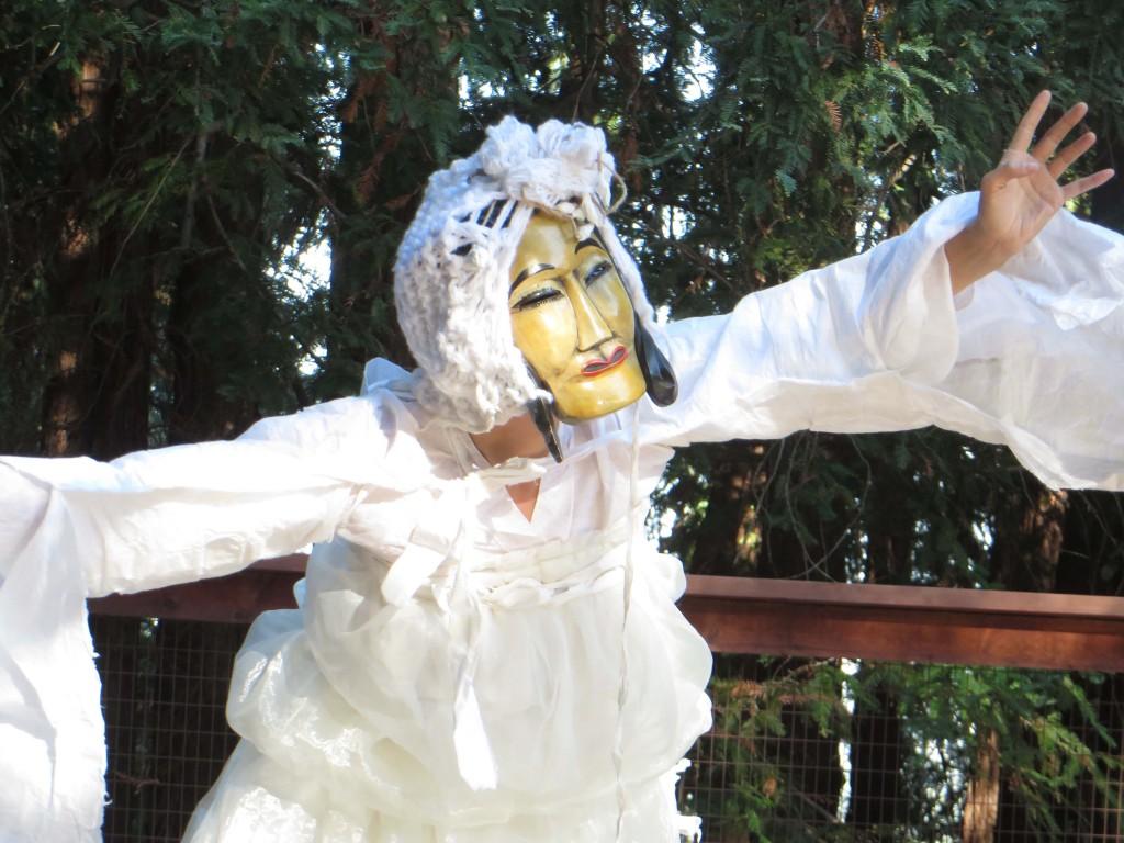 Dohee Lee on Anna Halprin's dance deck, 2013. Photo: John Held, Jr.