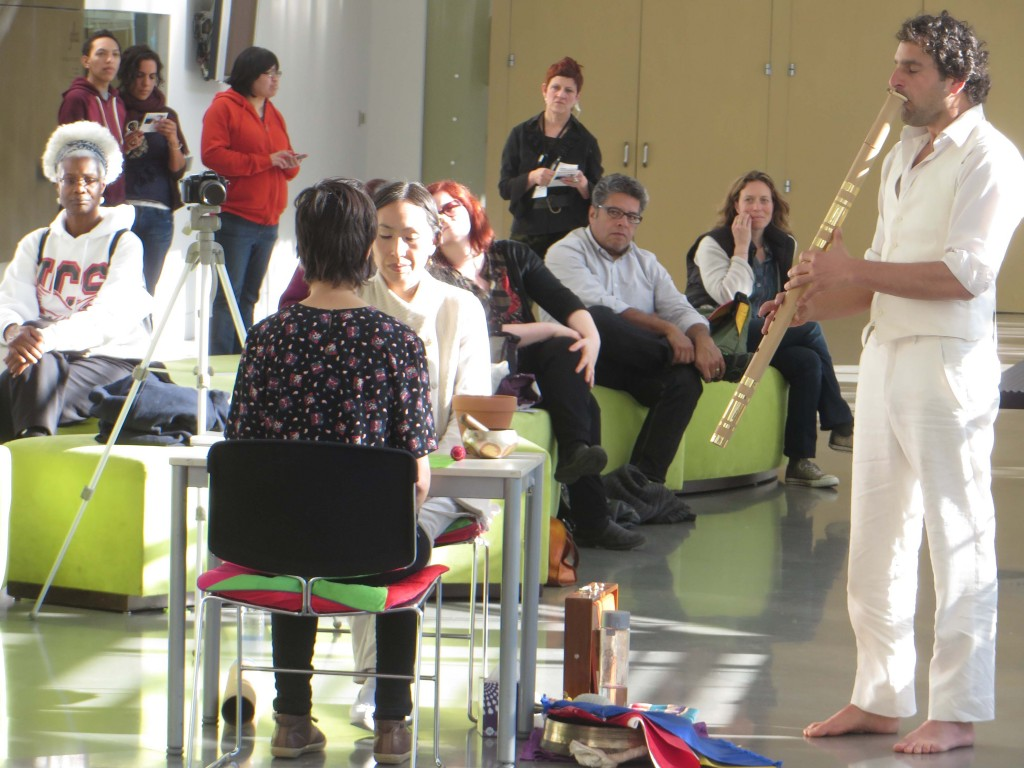 Dohee Lee with accompaniment. Yerba Buena Center for the Arts, 2014 Photo: John Held, Jr.