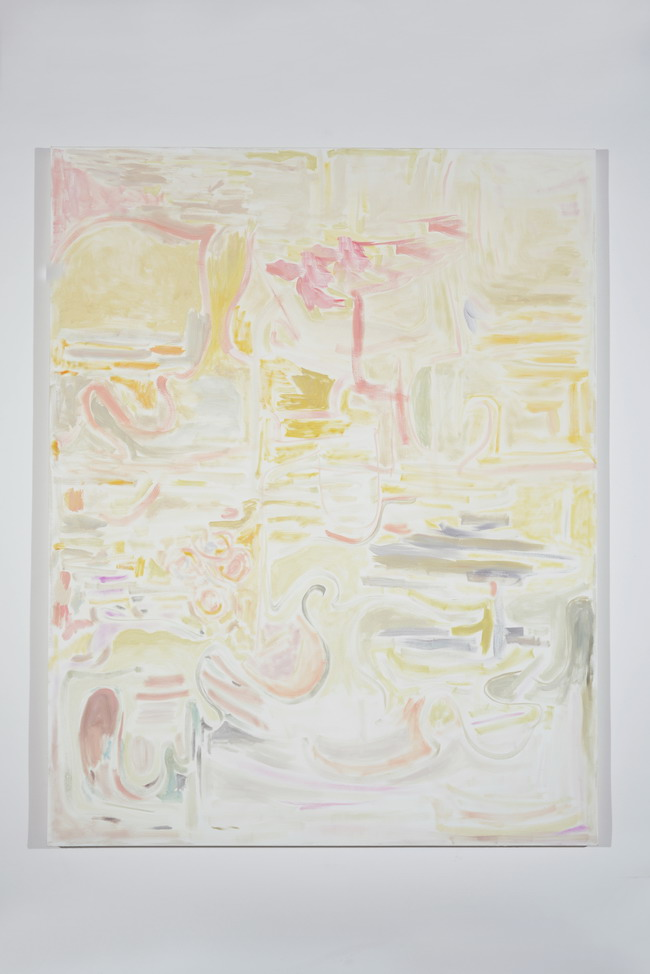 Laurie Reid, Little Sun, 2013. oil on canvas. 84 x 66 inches. Courtesy of Stephen Wirtz Gallery.