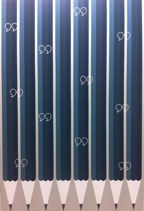 Marco Palmieri, Pencils, 2014, acrylic on canvas, 71 x 47 in (180 x 120 cm). Courtesy the artist and Ana Cristea Gallery.