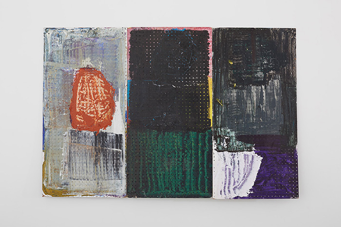 Eric Mack, Untitled, 2013 Oil and acrylic on board 48 x 72 inches Courtesy of Kate Werble Gallery.
