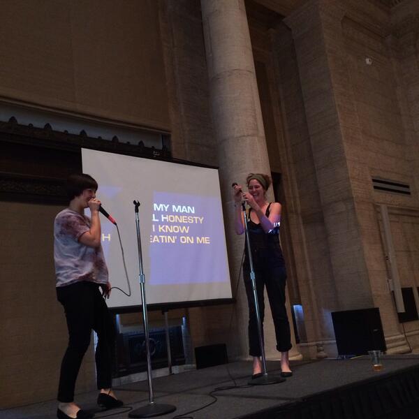 "Karaoke lounge. A karaoke classic done right: TLC's ""creep"" Courtesy of Asian Art Museum's Twitter."
