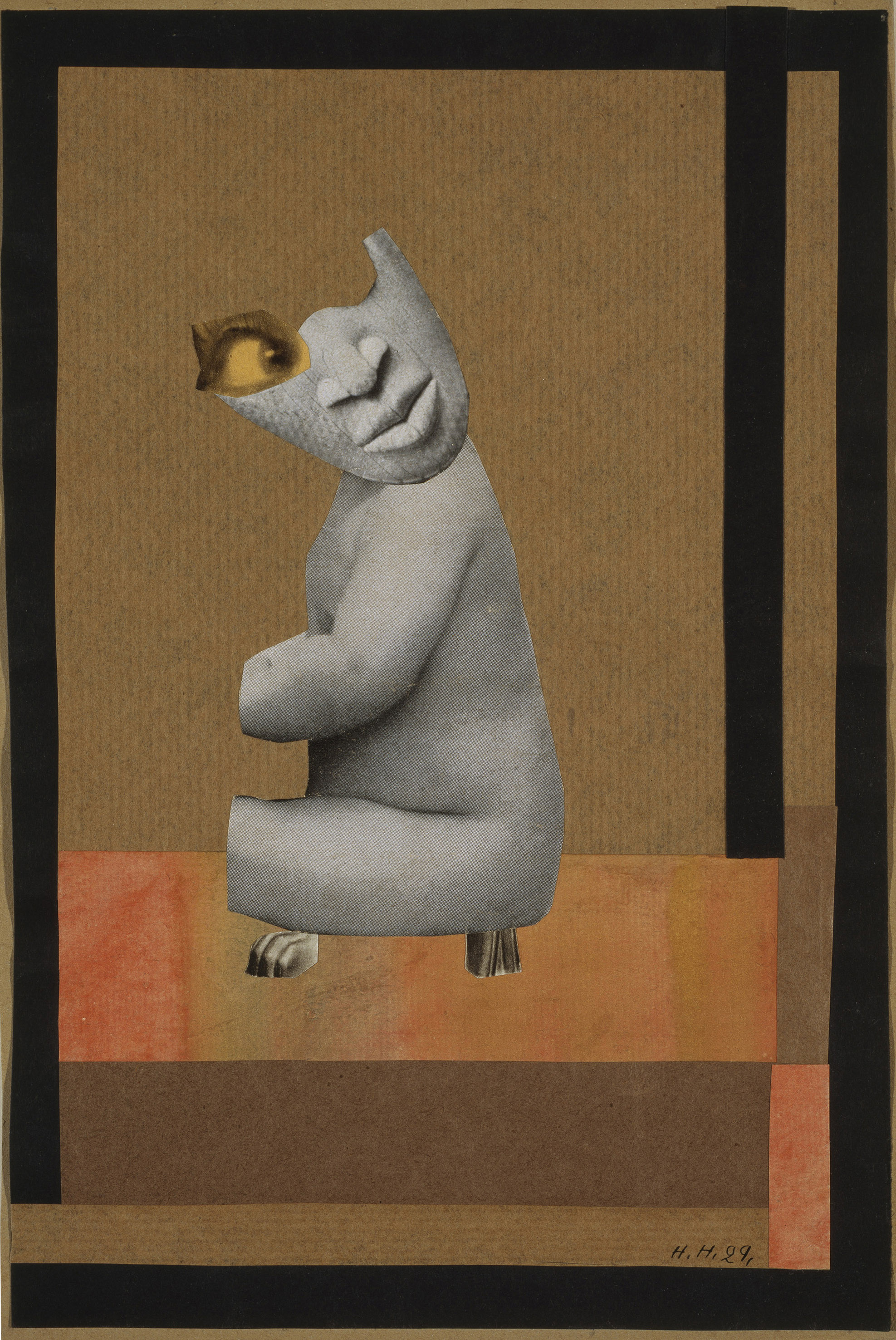 Aus der Sammlung: Aus einem ethnographischen Museum (From the Collection: From an Ethnographic Museum), 1929 Collage and gouache on paper. 26 x 17.5 cm Scottish National Gallery of Modern Art, Edinburgh. Bequeathed by Gabrielle Keiller, 1995