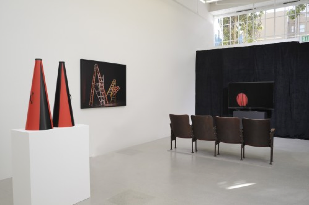 "Tammy Rae Carland, ""Live From Somewhere,"" installation view.  Courtesy of Jessica Silverman Gallery."