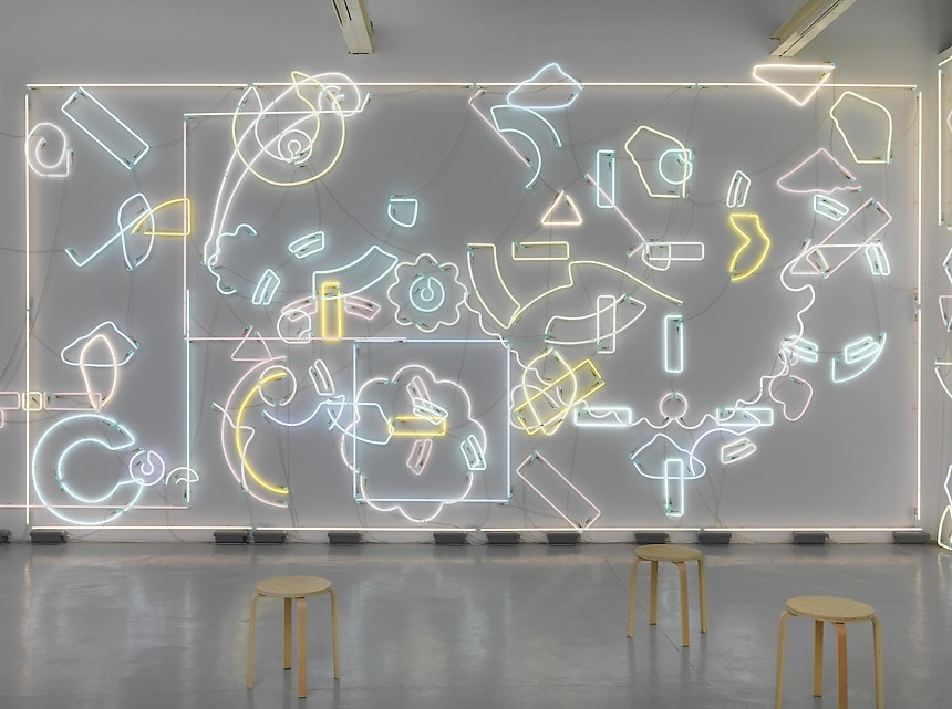 Genau or Never. 2012-2014. approx 540 pieces of neon. dimensions variable. Courtesy of greengrassi.