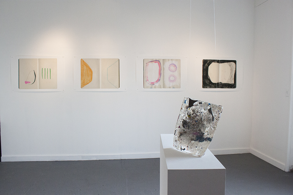 Installation view, works by Mia Christopher. Courtesy of City Limits.