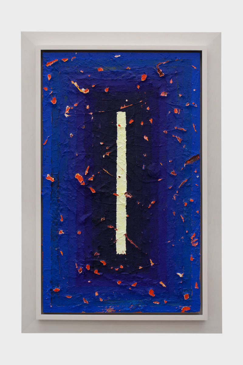 Julian Hoeber Blue Wound, 2013 Acrylic on linen. Courtesy of fused space.