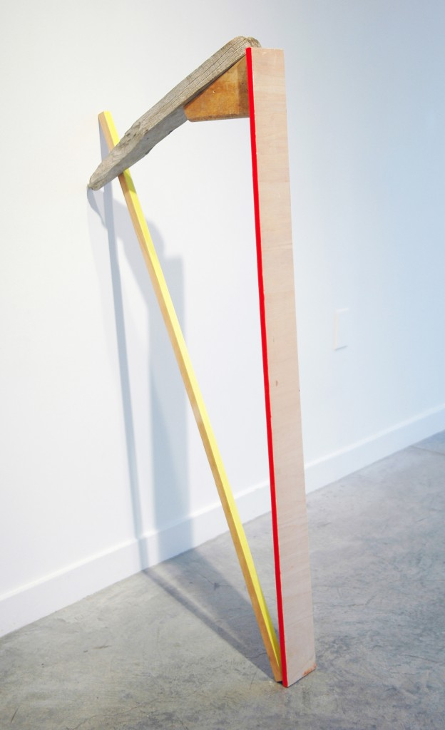 "Kirk Stoller,Untitled (harp), wood, acrylic and resin, 48"" x 23"" x 5"" image courtesy of the artist and Romer Young Gallery"