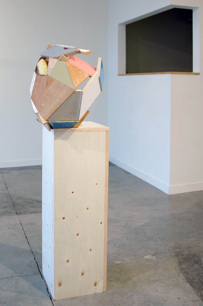 "Kirk Stoller,Untitled (ledge), wood, acrylic and resin, 52"" x 19.5"" x 16.5"" image courtesy of the artist and Romer Young Gallery"