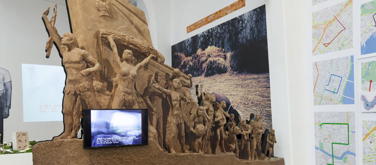 Xu Zhen installation view.  Courtesy of Ullens Center for Contemporary Art.