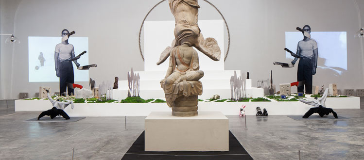 Xu Zhen installation view.  Courtesy of Ullens Center for Contemporary Art.