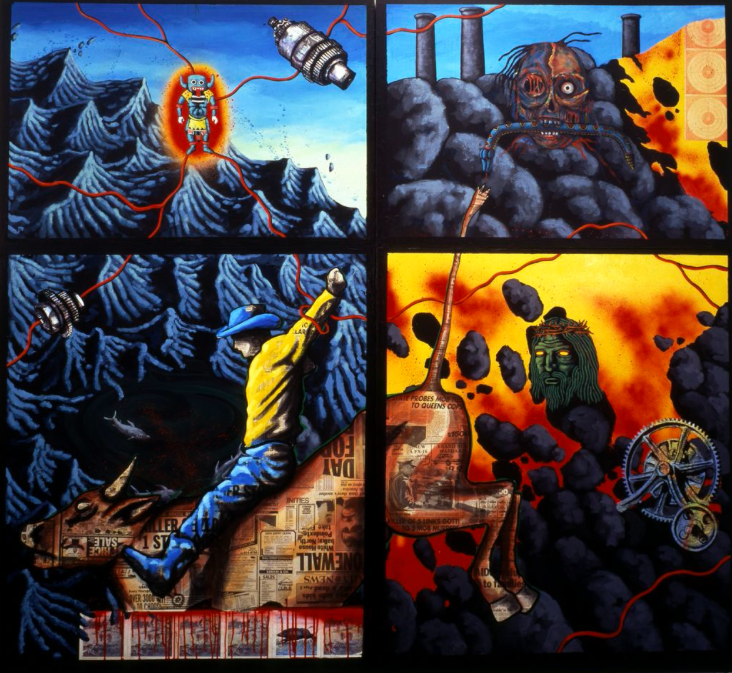 """The Death of American Spirituality"" by David Wojnarowicz. Courtesy of the Hammer Museum."