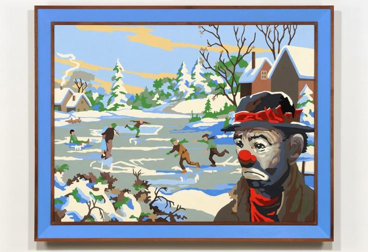 Four Seasons (Winter), 2013 Acrylic on panel, wood 57 x 73 x 3.5. Courtesy of Catherine Clark Gallery.