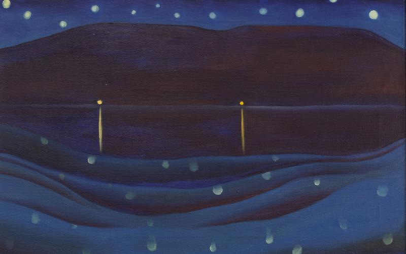 Georgia O'Keeffe, Starlight Night, Lake George, 1922. Oil on canvas. Private Collection. © Georgia O'Keeffe Museum / Artists Rights Society (ARS), New York