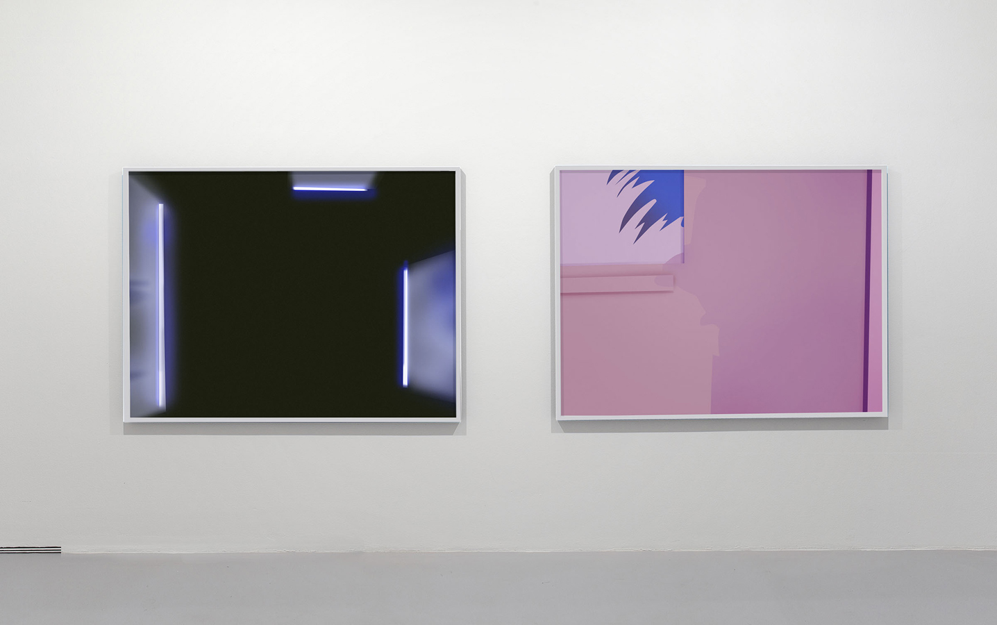 Chris Coy, Pink Cartoon Painting, Bl, 2012 Chromogenic print Installation view. Courtesy of Honor Fraser Gallery.