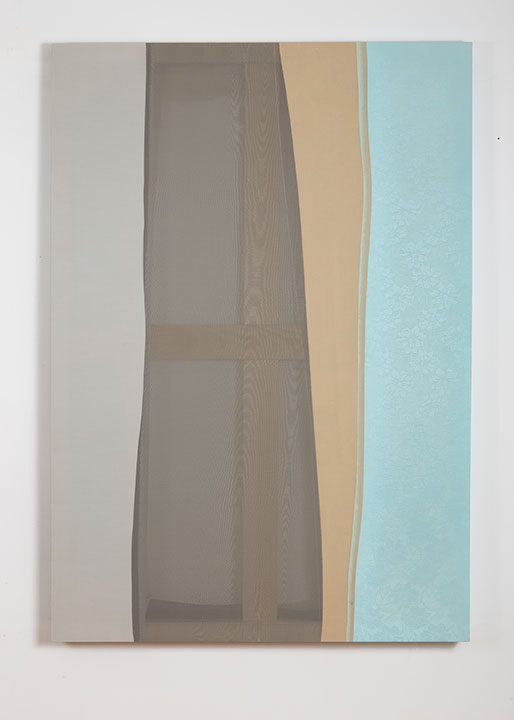 Michael Rudokas Untitled (Window), 2014 Cotton and chiffon 60 x 42 inches Courtesy of Denny Gallery.