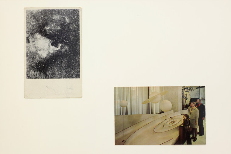 Amie Siegel, Listening to the Universe, 2014 Mixed media 13 ¼ x 17 ¼ inches  Courtesy of Ratio 3