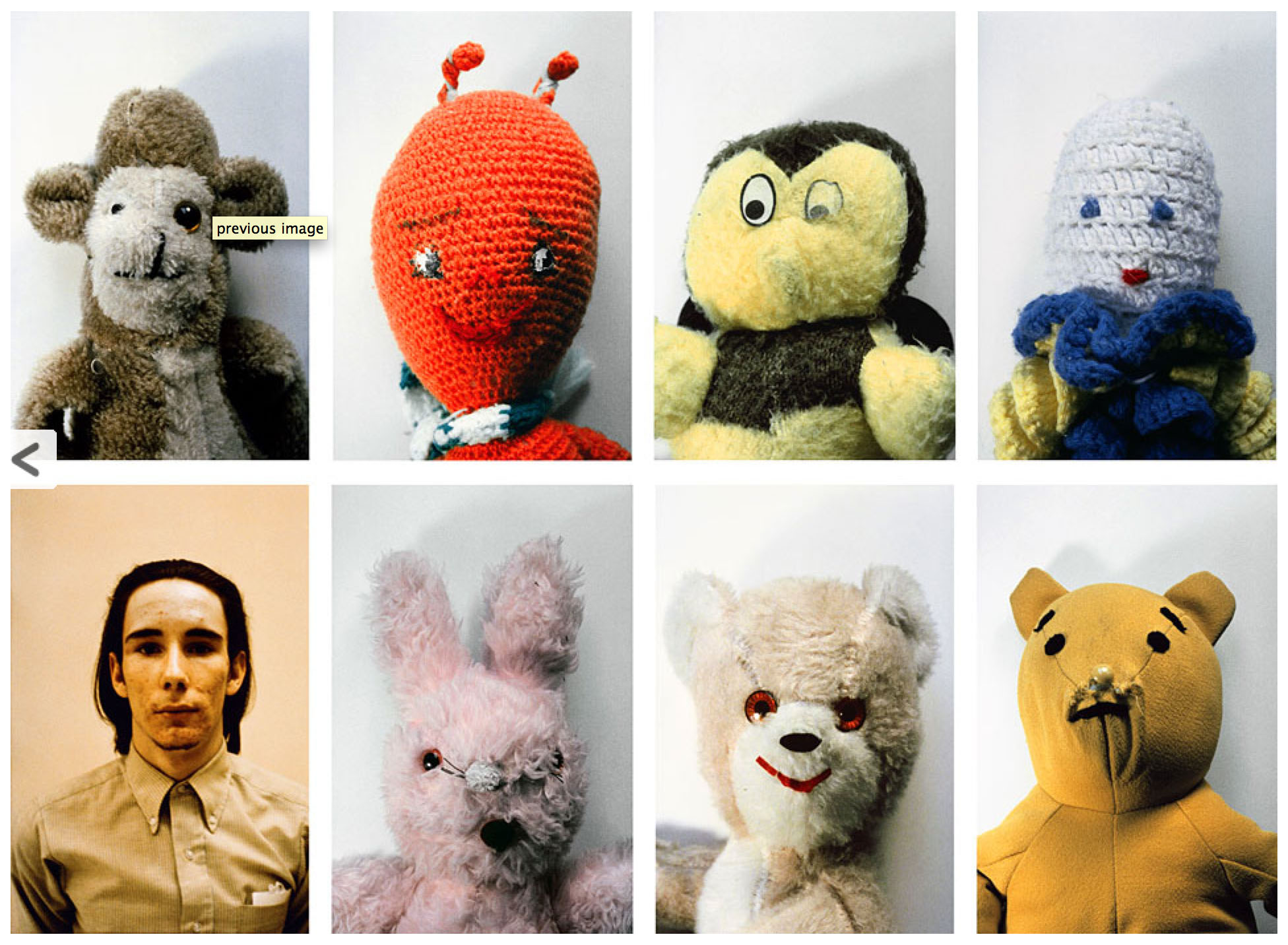 Mike Kelley, Ahh… Youth!, 1991, set of 8 Cibachrome photographs, 24 x 20 in. each; one at 24 x 18 in., Courtesy Mike Kelley Foundation for the Arts.