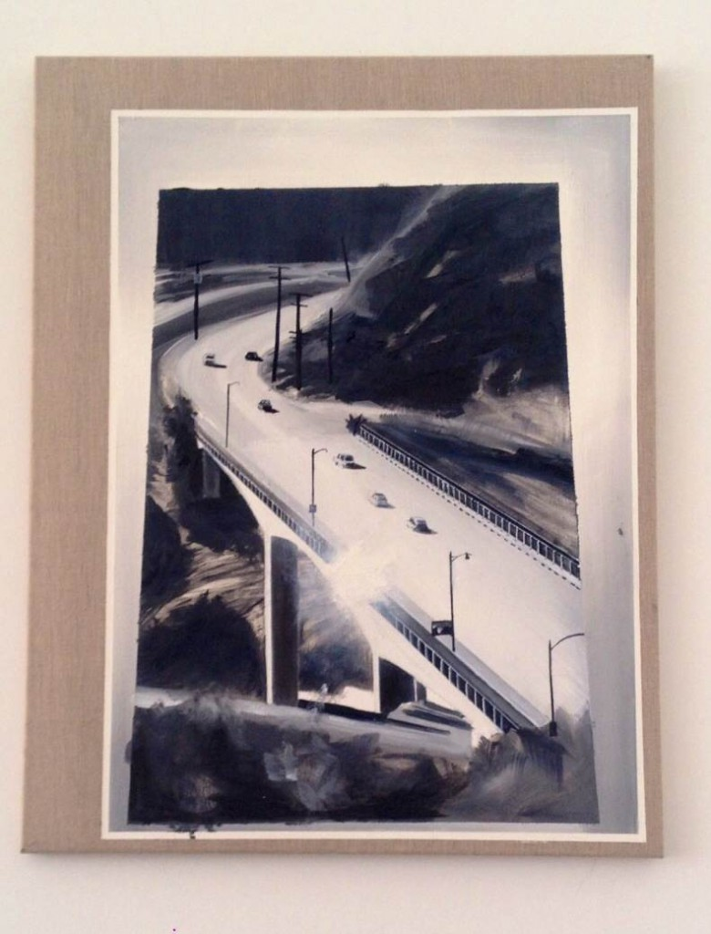 "Eduardo Consuegra, ""Untitled (interstate)"", 2013, oil on linen 22 x 28, Courtesy of the artist."