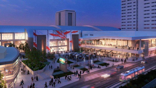 Graphic rendering of the new San Jose McEnery Convention Center.