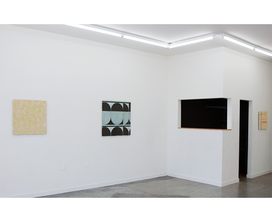 ELISE FERGUSON, STRIPED KNOT, installation view. Courtesy of Romer Young Gallery.