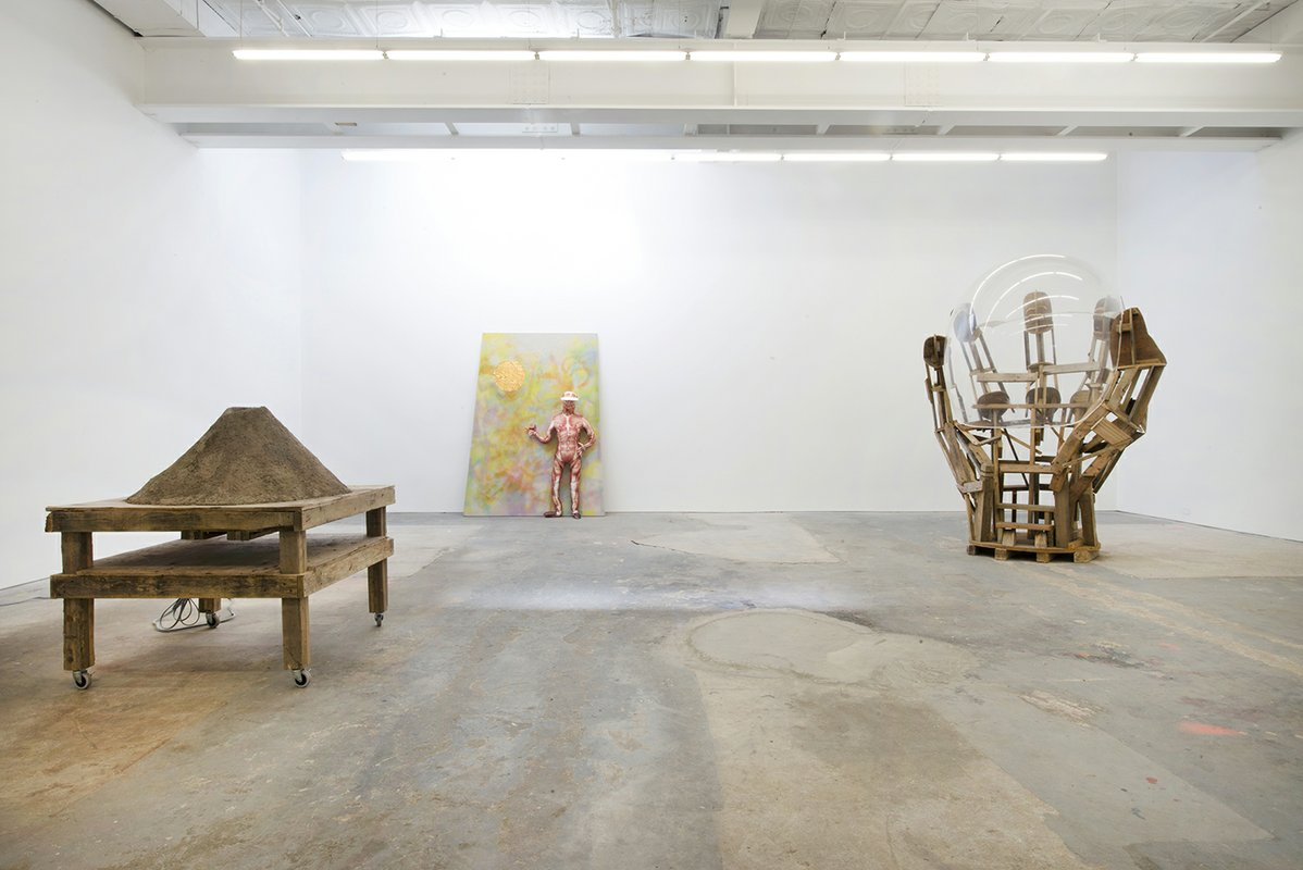 "Peter Coffin, Willy Le Maitre, Agathe Snow, ""The Weird Show"", 2014. Installation View. Courtesy of CANADA, New York."