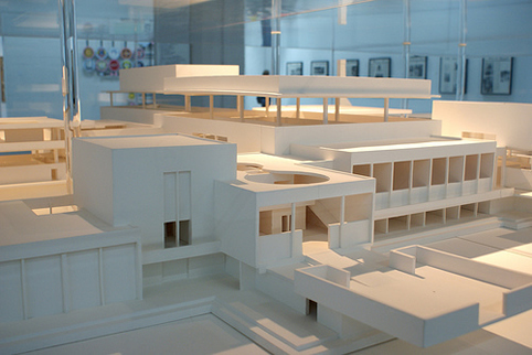 """Mike Kelley, """"Educational Complex,"""" 1995, installation view (detail). Courtesy of MOCA, Los Angeles."""