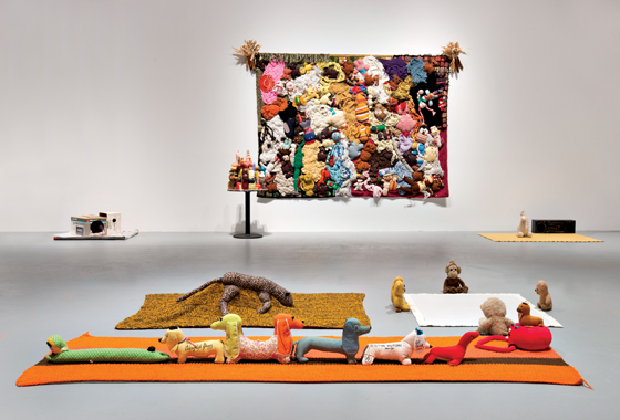 "Mike Kelley, ""Mike Kelley,"" installation view. Courtesy of MOCA Los Angeles."