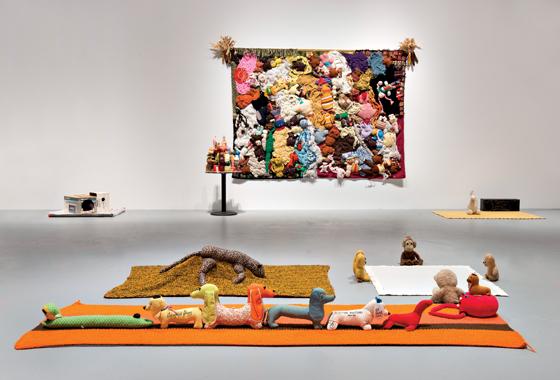 "Mike Kelley, ""Mike Kelley,"" installation view. Courtesy of MOCA Los Angeles."
