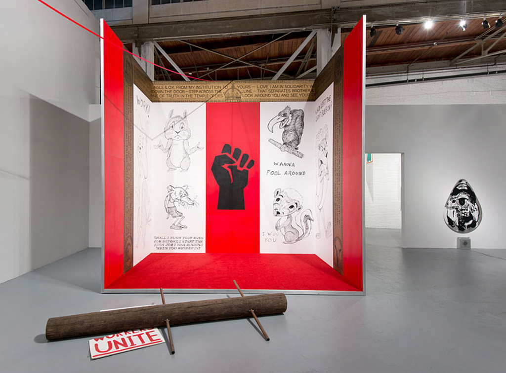 "Mike Kelley, ""Mike Kelley,"" installation view. Photo by Brian Forrest. Courtesy of MOCA, Los Angeles."