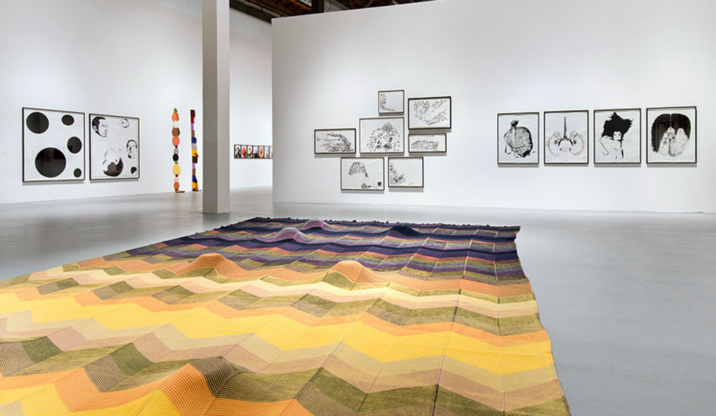 "Mike Kelley, ""Mike Kelley,"" installation view. Photo by Brian Forrest. Courtesy of MOCA Los Angeles."