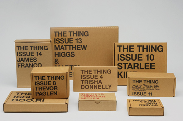 An assortment of previous issues by The THING Quarterly