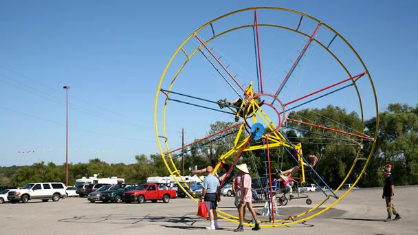 """Star Wheel,"" a previous construction by Paul Cesewski."