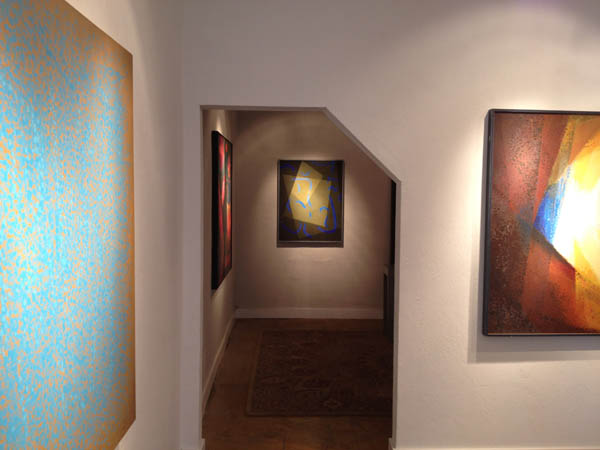 """""""Jack Wright: A Unified Theory of Painting,"""" 2014, installation view. Courtesy of Krowswork."""